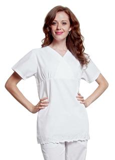 Adar Universal Daisy Border Top-Adar Medical Uniforms