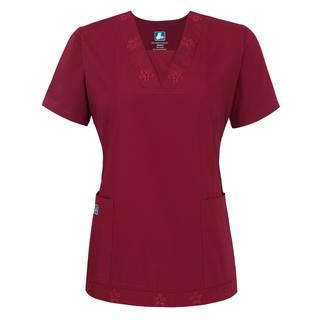 Adar Universal Eyelet Trim Tunic-Adar Medical Uniforms