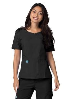 Adar Universalweetheart V-neck Top-Adar Medical Uniforms