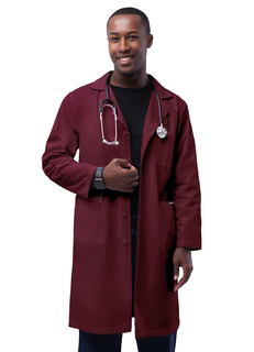"Adar Universal Unisex 39""ab coat with Inner Pockets-Adar Medical Uniforms"