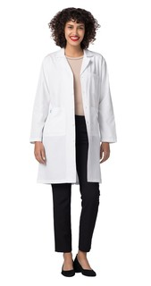 "Adar 808 Universal 39"" Unisex Midriff Lab Coat-Adar Medical Uniforms"