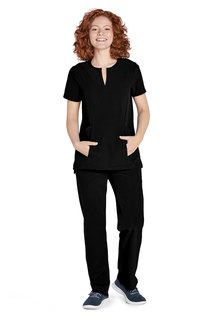 Adar Addition Womens Bib Front Smock Top-Adar Medical Uniforms