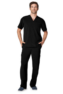 Adar Addition Mens Classic V-Neck Top-Adar Medical Uniforms