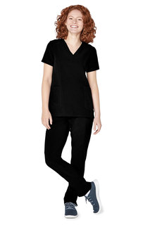 Adar Addition Womens Modern V-Neck Top-Adar Medical Uniforms