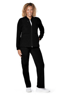 Adar Addition Womens Classic Bomber Jacket-Adar Medical Uniforms