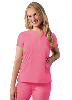ADAR Addition Womens Notched V-neckcrub Top-Adar Medical Uniforms