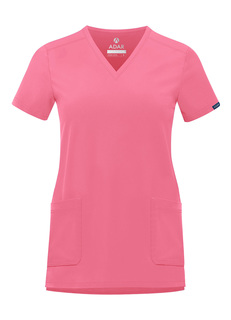 ADAR Addition Womens odern V-Neck crub Top-Adar Medical Uniforms