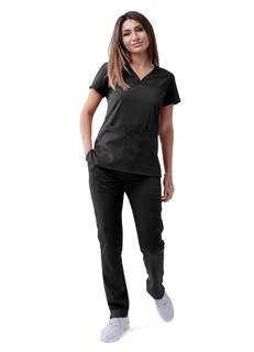 ADAR Pro Womens weetheart V-neck crub Top-Adar Medical Uniforms
