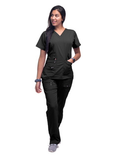 ADAR Pro Womens Elevated V-neck crub Top-Adar Medical Uniforms
