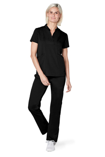 Adar Pro Womens Crossover Bib Front Top-Adar Medical Uniforms