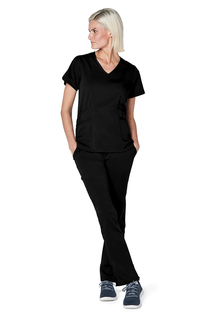 Adar Pro Womens Tailored V-Neck Top-Adar Medical Uniforms