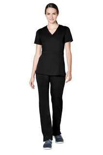 Adar Pro Womens Tailored Peplum Top-Adar Medical Uniforms
