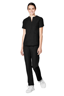 Adar Pro Womens Tailored Notch Neck Top-