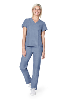 Adar Pro Womens Polished Melange Tailored V-Neck Top-Adar Medical Uniforms