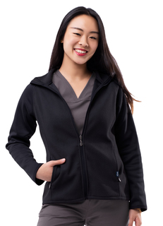 ADAR Pro Womens Performance Full Zip Bonded Fleece Jacket-Adar Medical Uniforms
