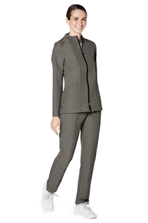 Adar Pro Womens Polished Melange Tailored Funnel Neck Jacket-Adar Medical Uniforms