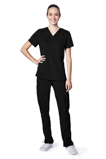 Adar Resoponsive Womens Active Classic V-Neck Top-Adar Medical Uniforms