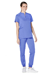 Adar Resoponsive Womens Active Stand Collar Top-Adar Medical Uniforms