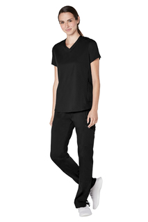 Adar Resoponsive Womens Active Modern V-Neck Top-Adar Medical Uniforms
