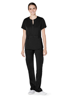 Adar Resoponsive Womens Active Notch Neck Top-Adar Medical Uniforms