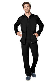 Adar Resoponsive MenS Zip Front Active Jacket-Adar Medical Uniforms