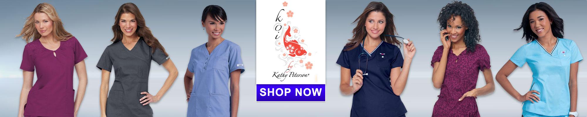 Shop Koi Scrub apparel
