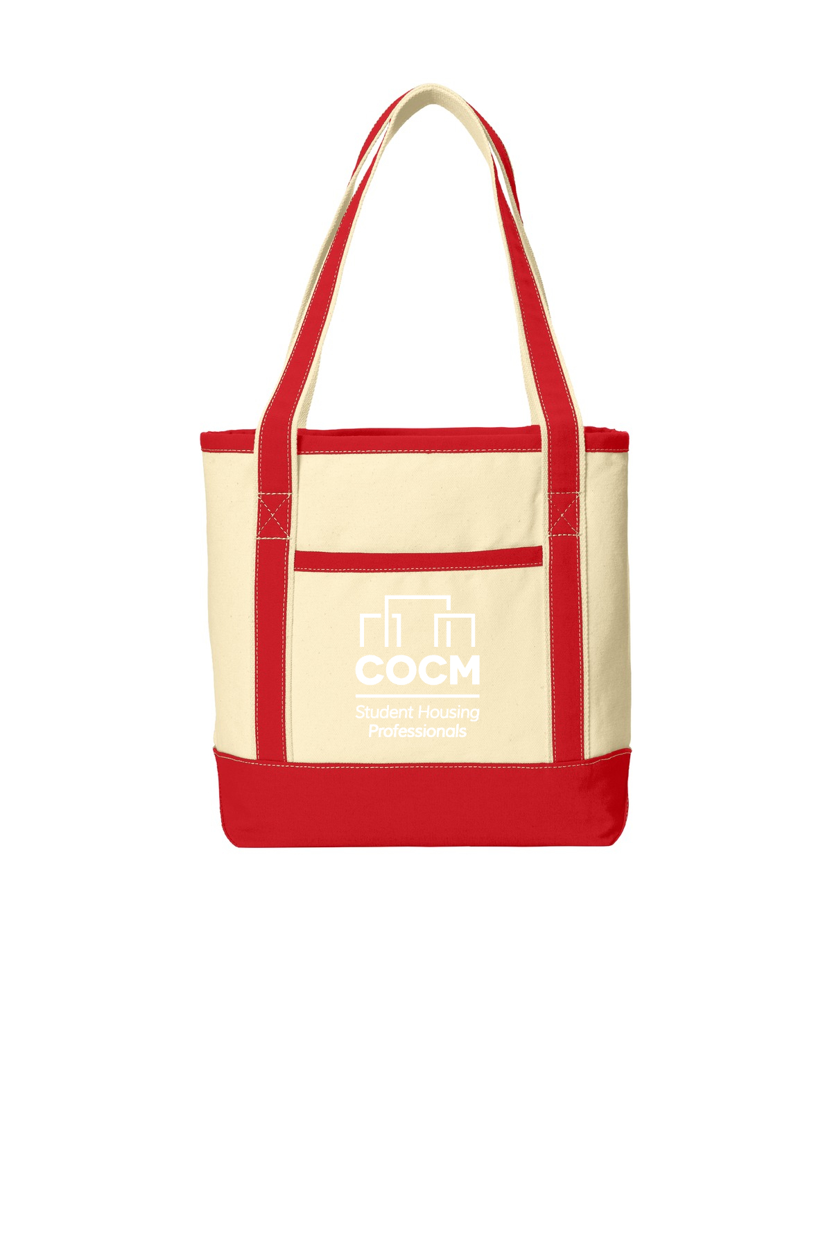 Port Authority® Medium Cotton Canvas Boat Tote with Logo-Port Authority