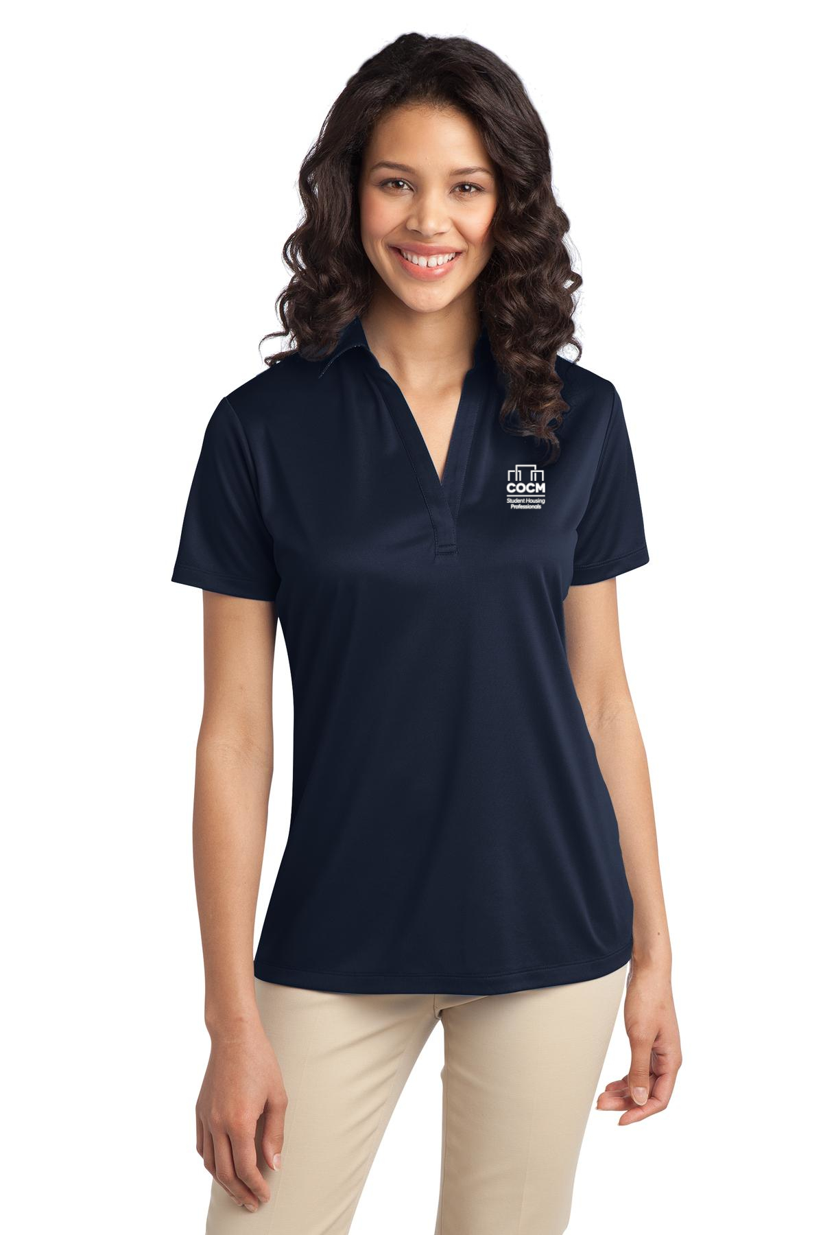 Port Authority® Ladies Silk Touch Performance Polo (with Logo)-Port Authority