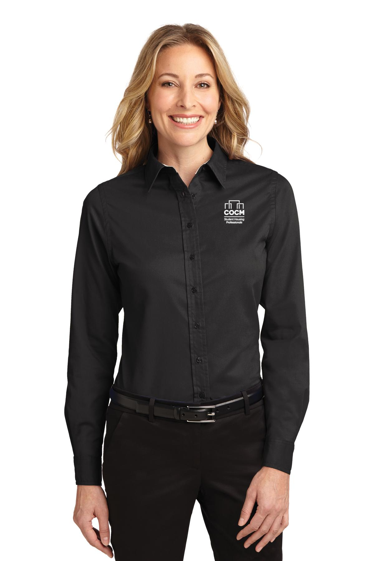Port Authority® Ladies Long Sleeve Easy Care Shirt (with Logo)-