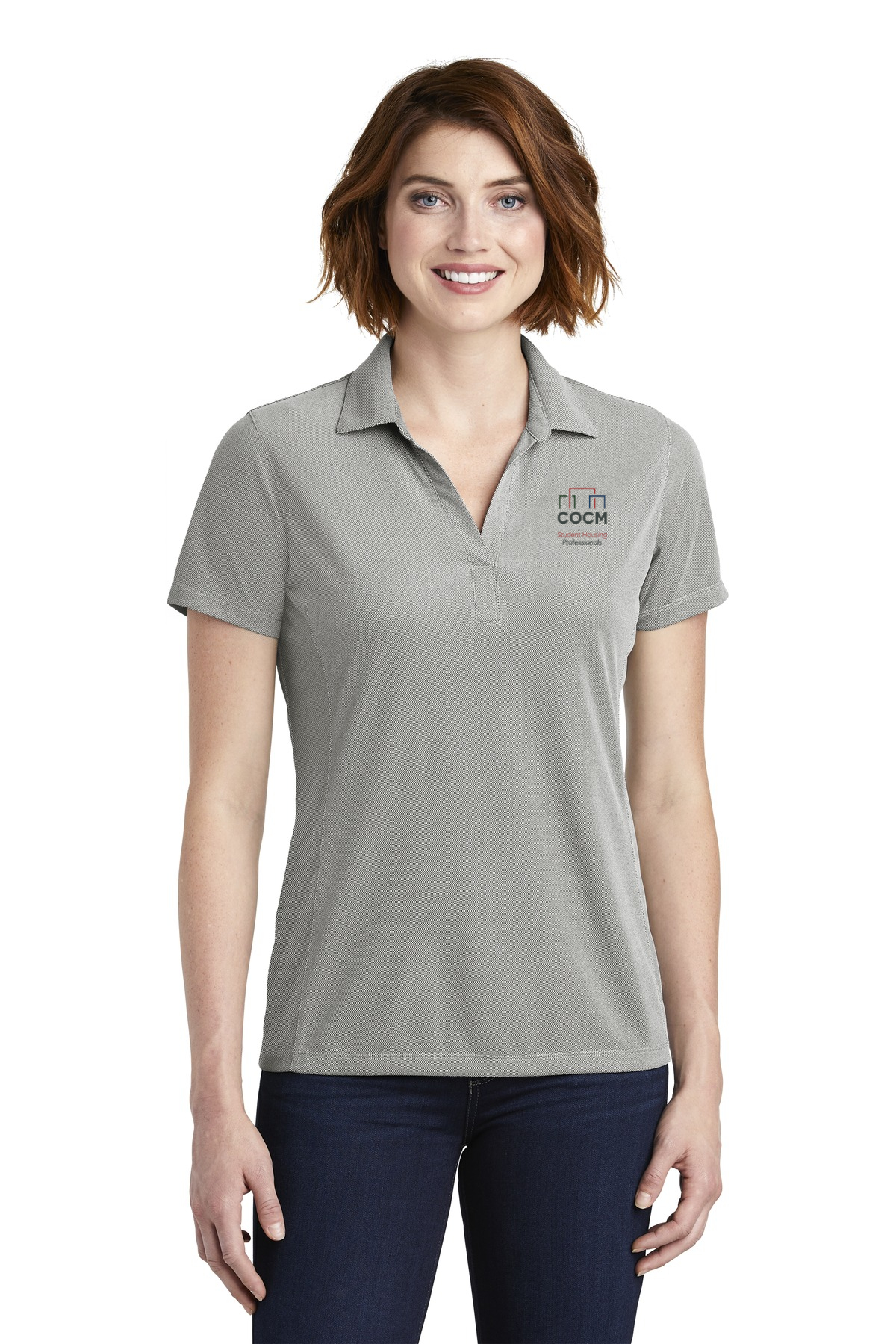 Port Authority ® Ladies Poly Oxford Pique Polo (with Logo)-