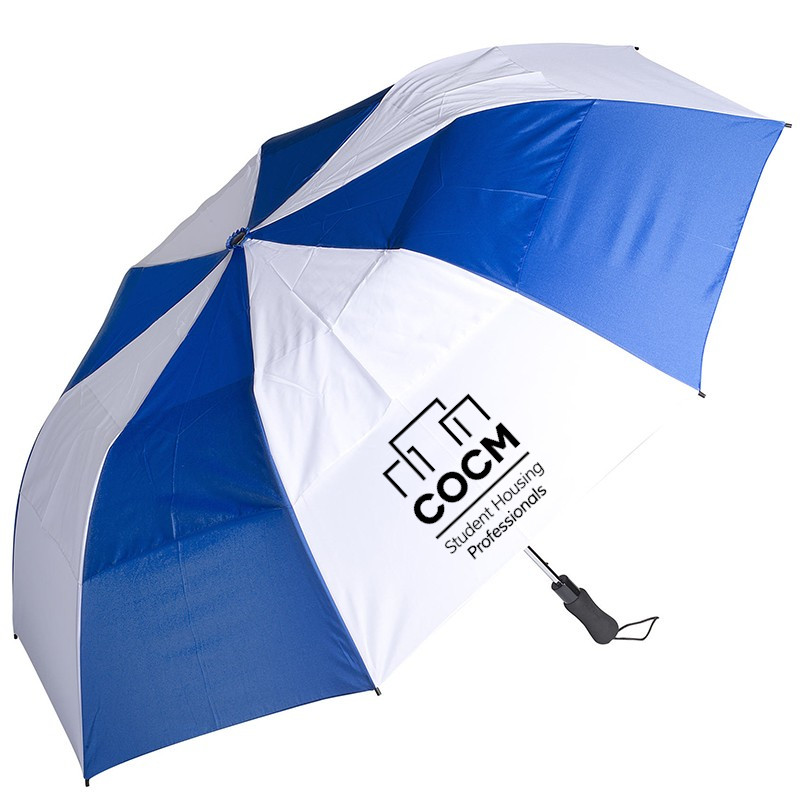58'' Vented Auto Open Golf Umbrella-COCM_Promo