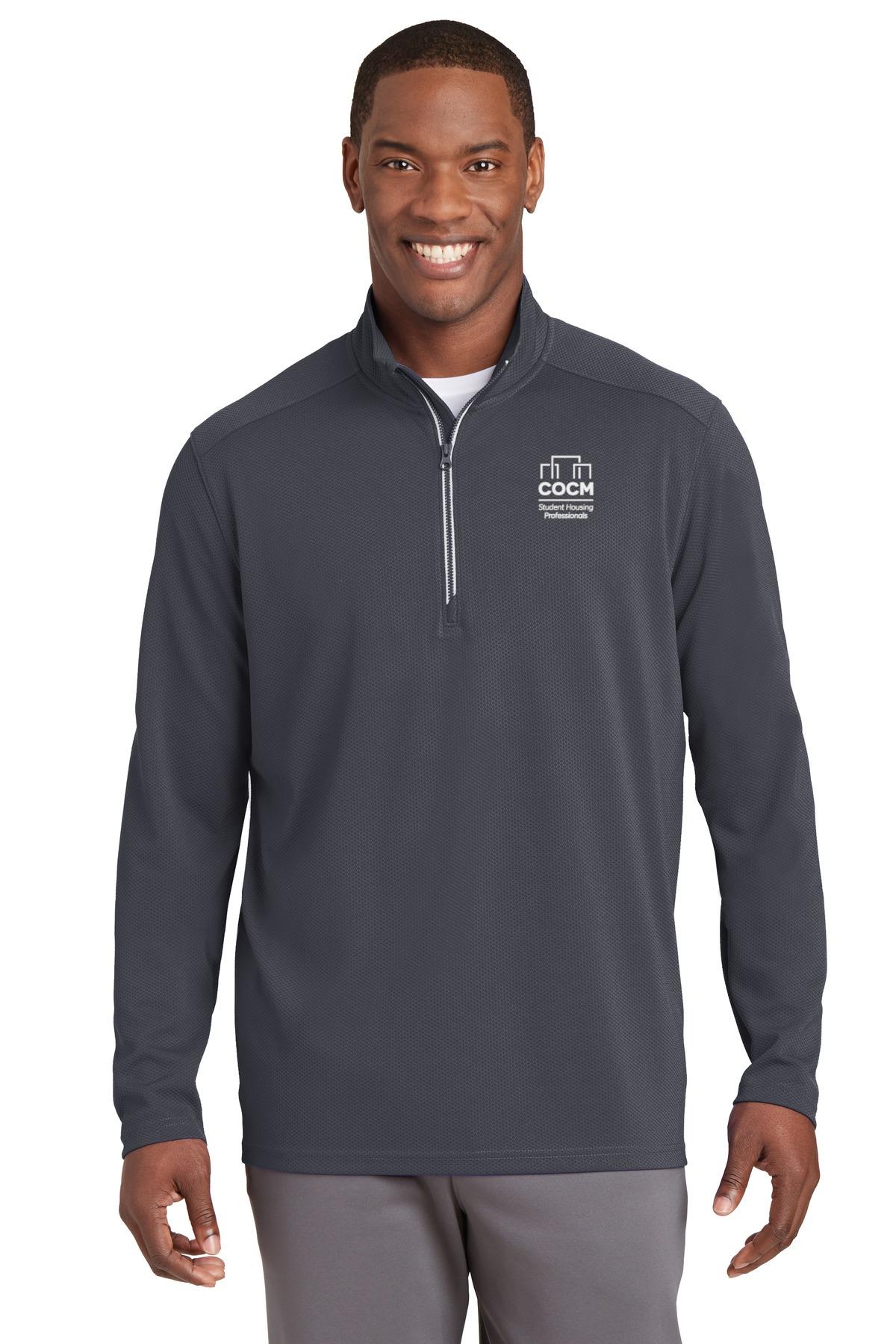 Sport-Tek® Sport-Wick® Textured 1/4-Zip Pullover (with Logo)-