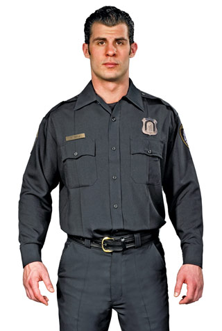 LAPD Style Long Sleeve Performance Duty Shirt Men's-Spiewak