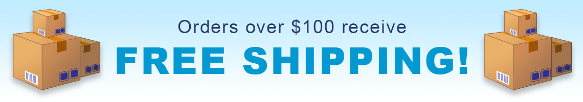 FREE-SHIPPING for orders over $100