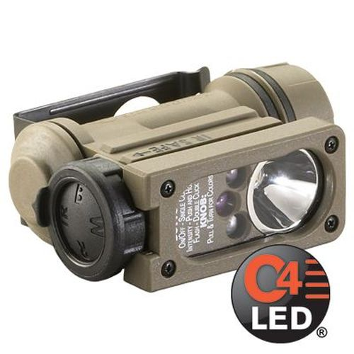 Sidewinder Compact Ii Multi-Battery Multi-Source Hands-Free Flashlight Includes Nvg Mount (Works With Dod, Nato And Isaf Combat Helmets)-