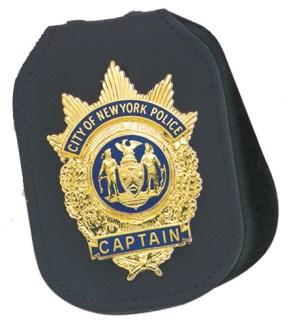 Non-Recessed Velcro Closure Badge Holder for neck or belt-