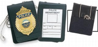 Neck - Duty Velcro Non-Recessed Badge & ID Holder w/Chain-