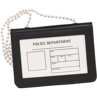 ID Holder for Neck or Beltwith chain - Horizontal-