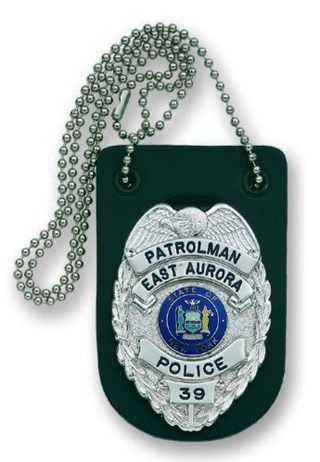 Neck - Undercover Badge Holder w/Chain-