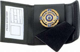 Non-Recessed Badge Case -Dress-Strong Leather