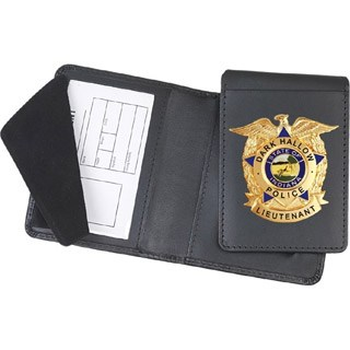 Side Open Removable Flip-out Badge Case - Dress-Strong Leather