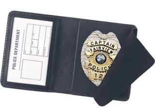 Side Open Badge Case- Duty-Strong Leather