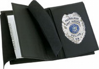 Side Open Double ID Flip-out Badge Case - Dress-Strong Leather