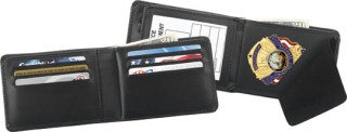 Hidden Badge and Credit Card Wallet - Dress-Strong Leather