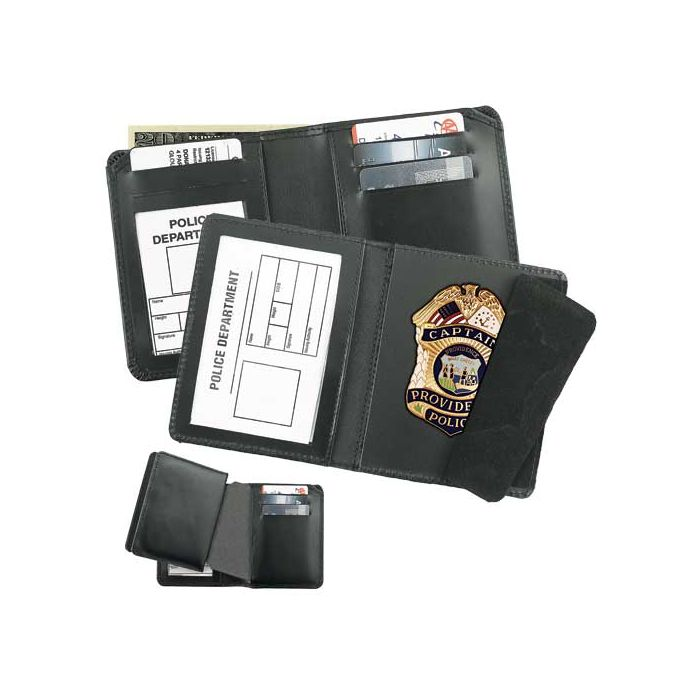 Combination Badge Case and Wallet-Strong Leather