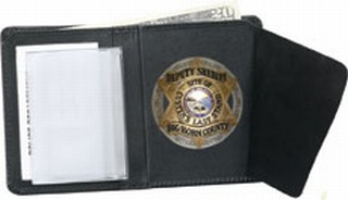 Bi-fold Badge Wallet - Dress-Strong Leather