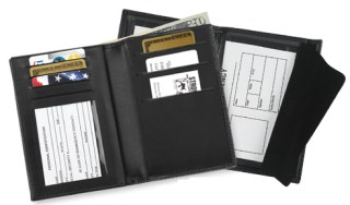Double ID and Credit Card Wallet - Dress-Strong Leather