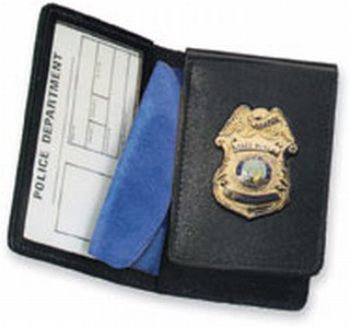 Side Open Flip-out Badge Case - Duty-Strong Leather
