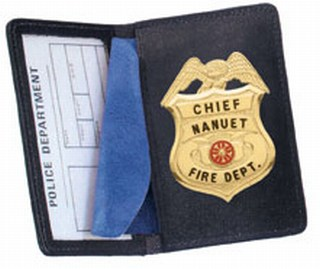 Side Open Badge Case - Duty-Strong Leather