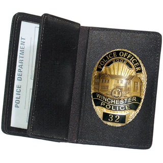 85550_Side Open Double ID Badge Case - Duty-Strong Leather